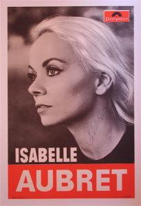 Isabelle Aubret Affiche dedicassée