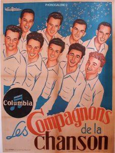 Les compagnons de la chanson Girbal, Columbia, R Deligne, Gaby de Montréal