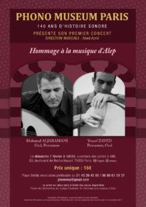 Hommage à la musique d'Alep Phono Museum Paris